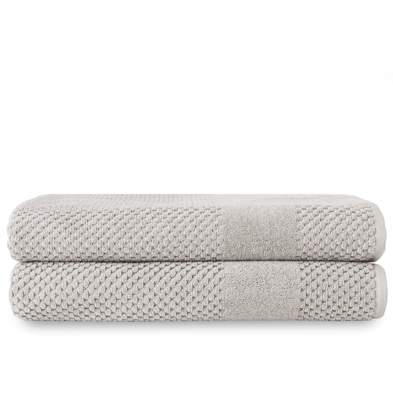 Chortex Turkish Cotton Bath Sheet (2 Pack), Pack of 2, Silver by Chortex (Image #1)