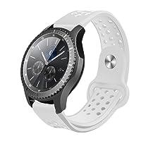 Reloj Samsung Gear S3 Band, Hanlesi Soft Silicone Band, correa deportiva reemplazable para Samsung Galaxy Gear 2 R380 Neo, R381 Live, R382 y Gear S3 Classic. Banda de reloj elegante y simple para hombre y mujer.