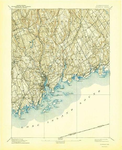 Topographic Map Ct.Amazon Com Yellowmaps Norwalk Ct Topo Map 1 62500 Scale 15 X 15