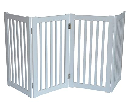 Amazon Com Mdog2 4 Panel Free Standing Pet Gate 72 Inch Width By