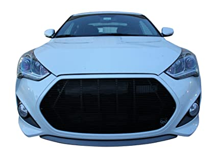 Fits 2013-2016 Hyundai Veloster Turbo 1PC Gloss Black Replacement Billet Grille