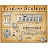 Yankee Stadium Blueprints Art Print - 11x14 Unframed Art Print - Great Sports Bar Decor and Gift for Baseball Fans