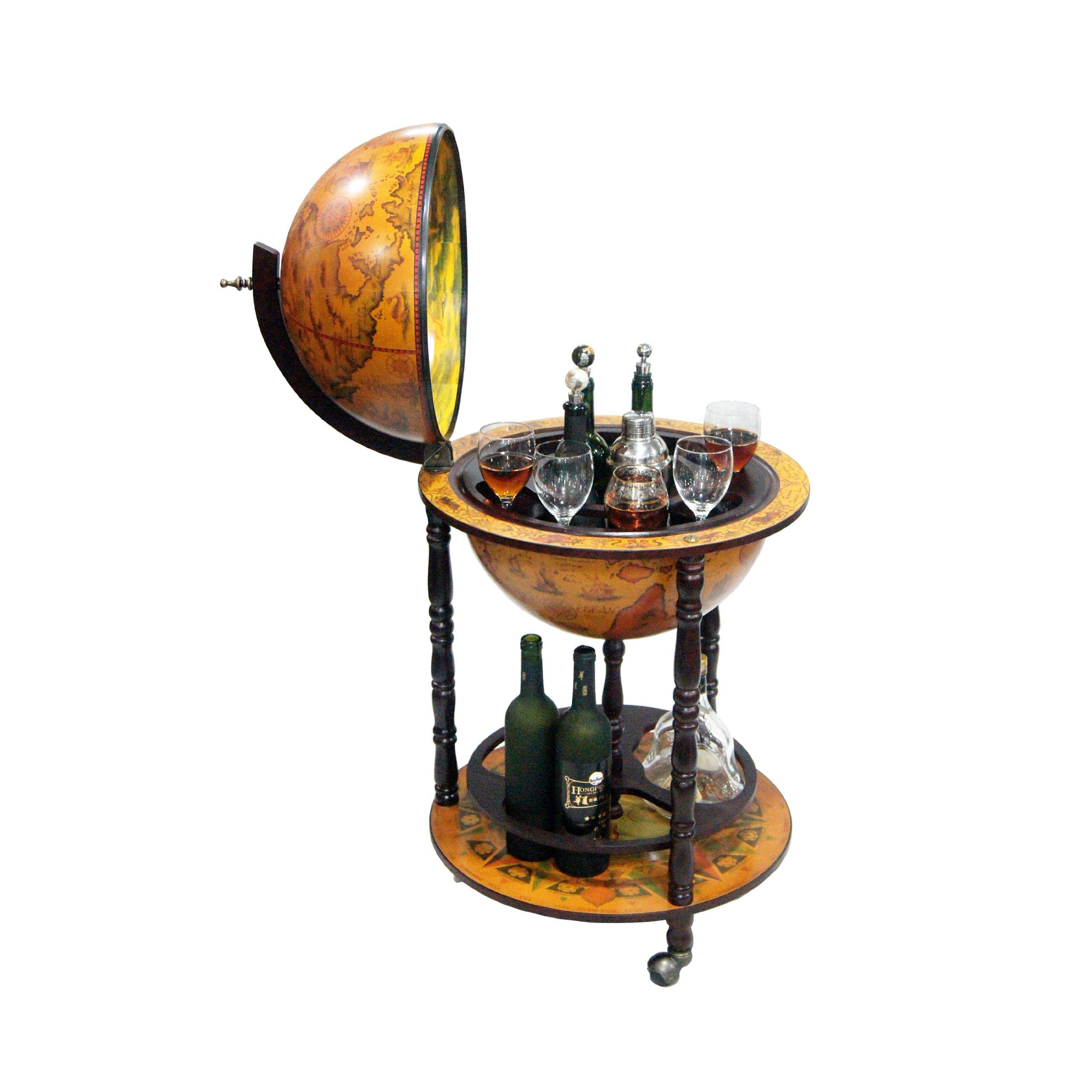 Merske Firenze Italian Style Floor Globe Bar, 20-Inch Diameter by Merske