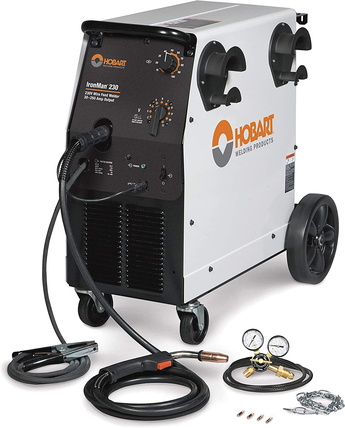 #1 Hobart 500536 Ironman MIG Welder w/ Wheel Kit