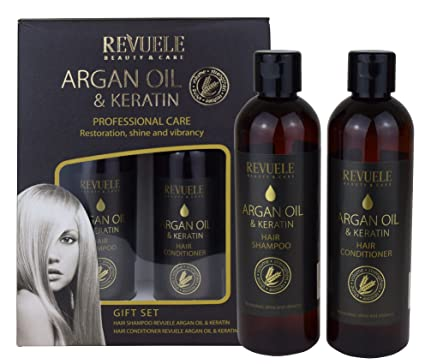 Aceite de argán y queratina, cuidado profesional, restauración ...
