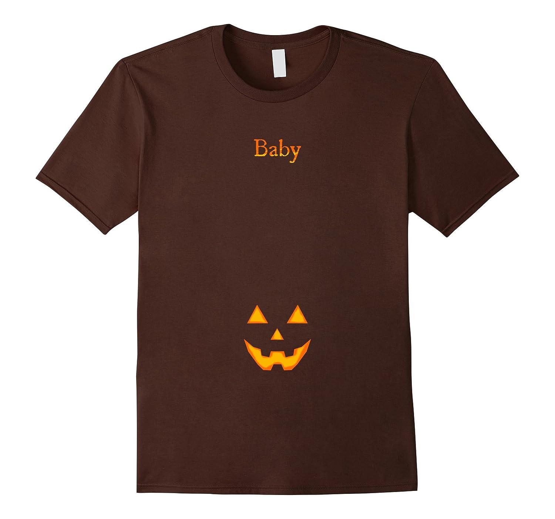 Baby Jack O' Lantern Face Spooky Pregnant Costume Tee Shirt