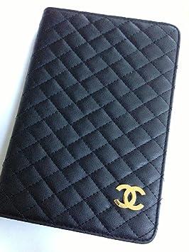 8049ad76666f Designer Chanel PU Leather Black iPad Mini Stand Case - Sleep/Wake ...