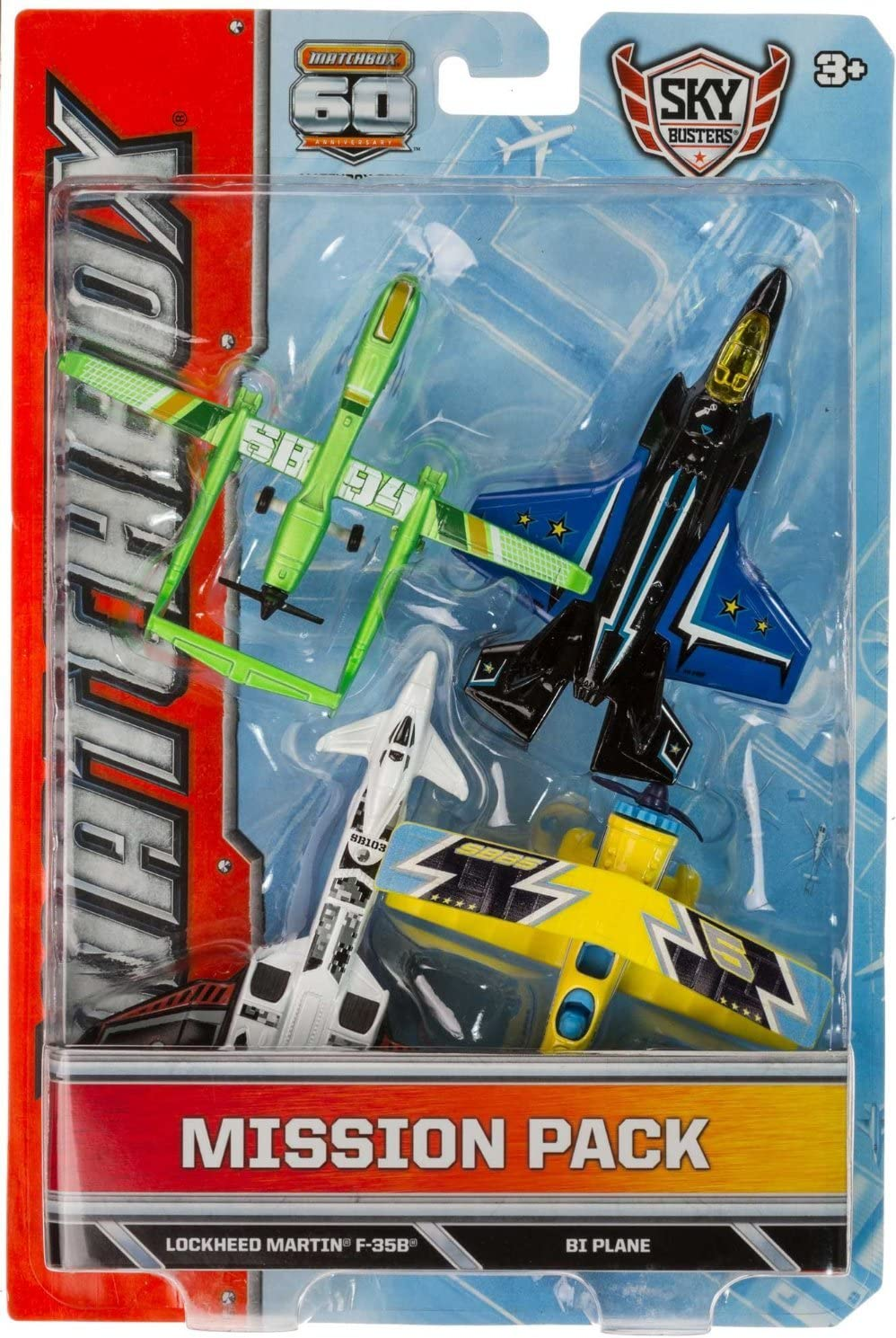 Twin Blast, Lockheed Martin F-35B, BI Plane, SB94 Drone Die-Cast Vehicle Pack: Matchbox Sky Busters Mission Pack Series by mattel: Amazon.es: Juguetes y juegos