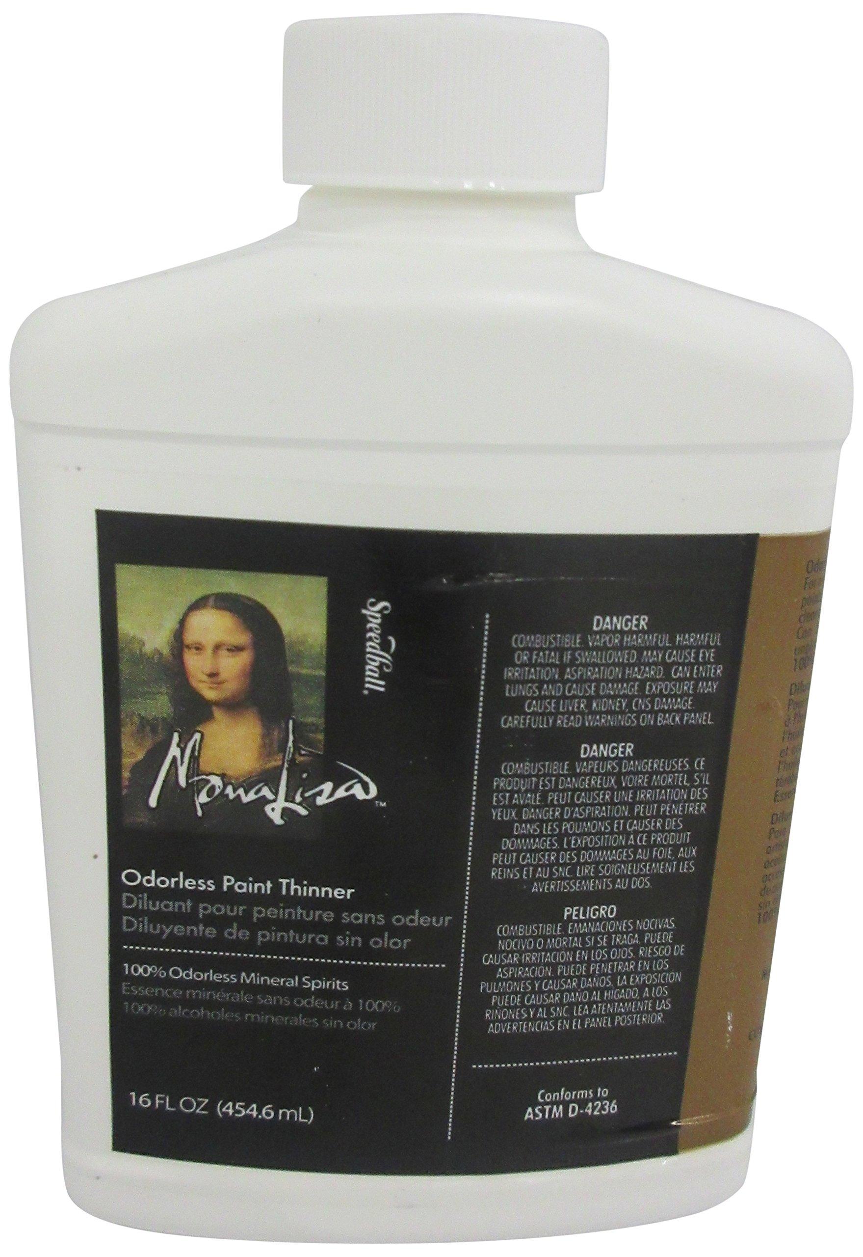 Speedball Mona Lisa Odorless Paint Thinner-16 ounce