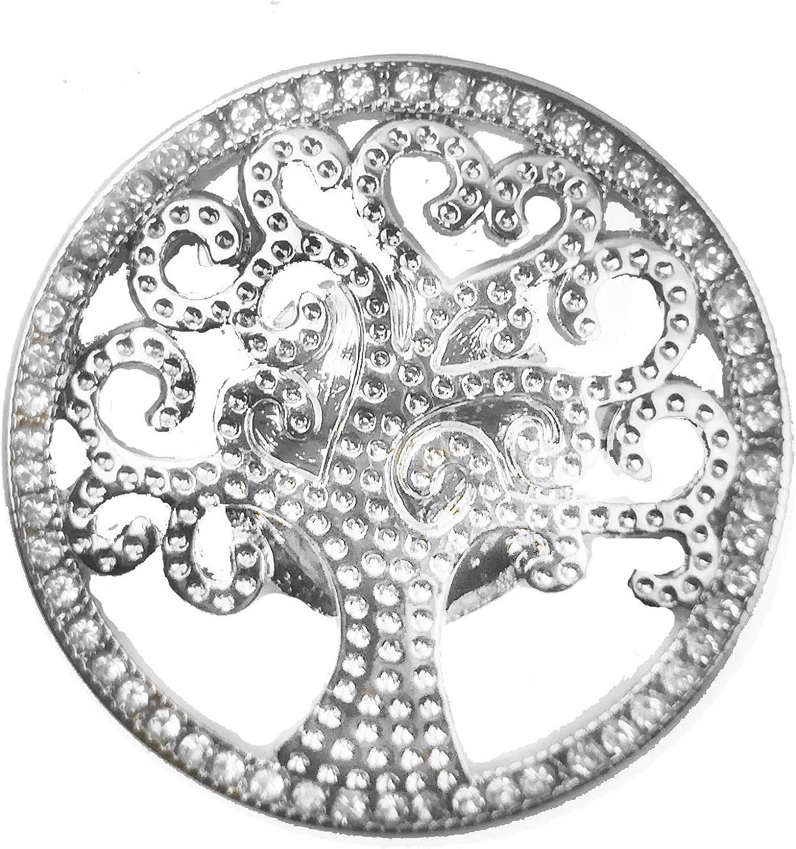 Treend24 Petite broche aimant/ée pour femme Motif arbre de vie