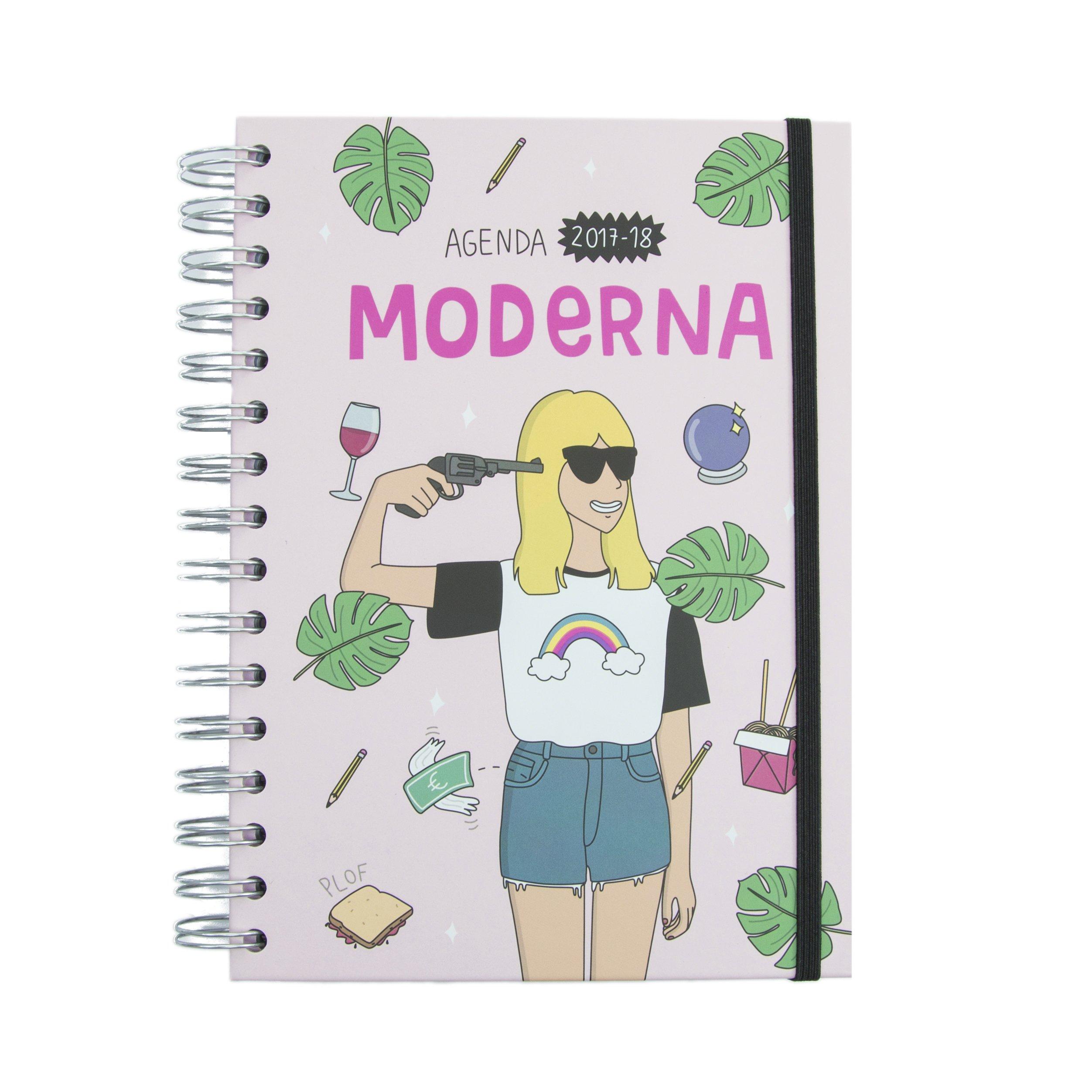 Agenda escolar Moderna de pueblo 2017-18 (TANTANFAN): Amazon ...