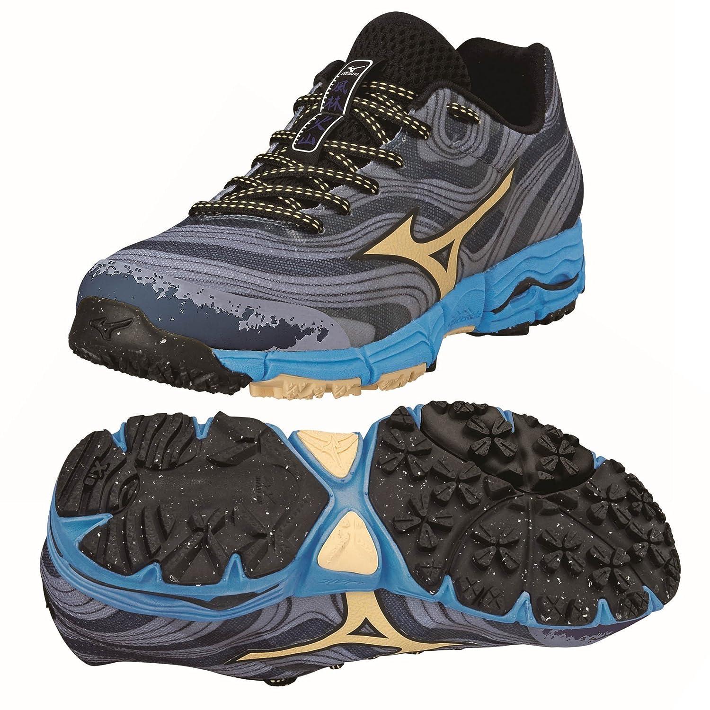 Amazon.com | Mizuno AW14 Womens Wave Kazan Trail Running Shoes - US 7.5 - Grey/Blue | Trail Running