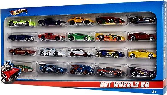 Hot Wheels Pack de 20 vehiculos, coches de juguete (modelos surtidos) (Mattel H7045): Mattel H7045 - Hot Wheels 20-er Pack, Geschenkset: Amazon.es: Juguetes y juegos