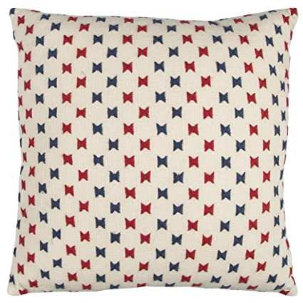 Rizzy Home T12371 Decorative Poly Filled Throw Pillow 20 x 20 Red//Blue