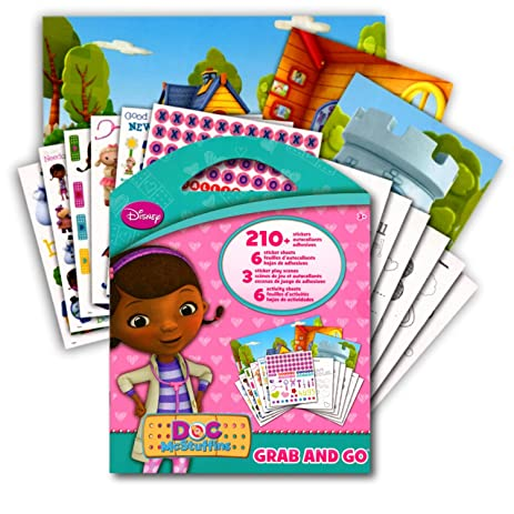 Doc McStuffins Stickers Activity Coloring Book 6 Large Sticker Sheets 3 Play Scenes