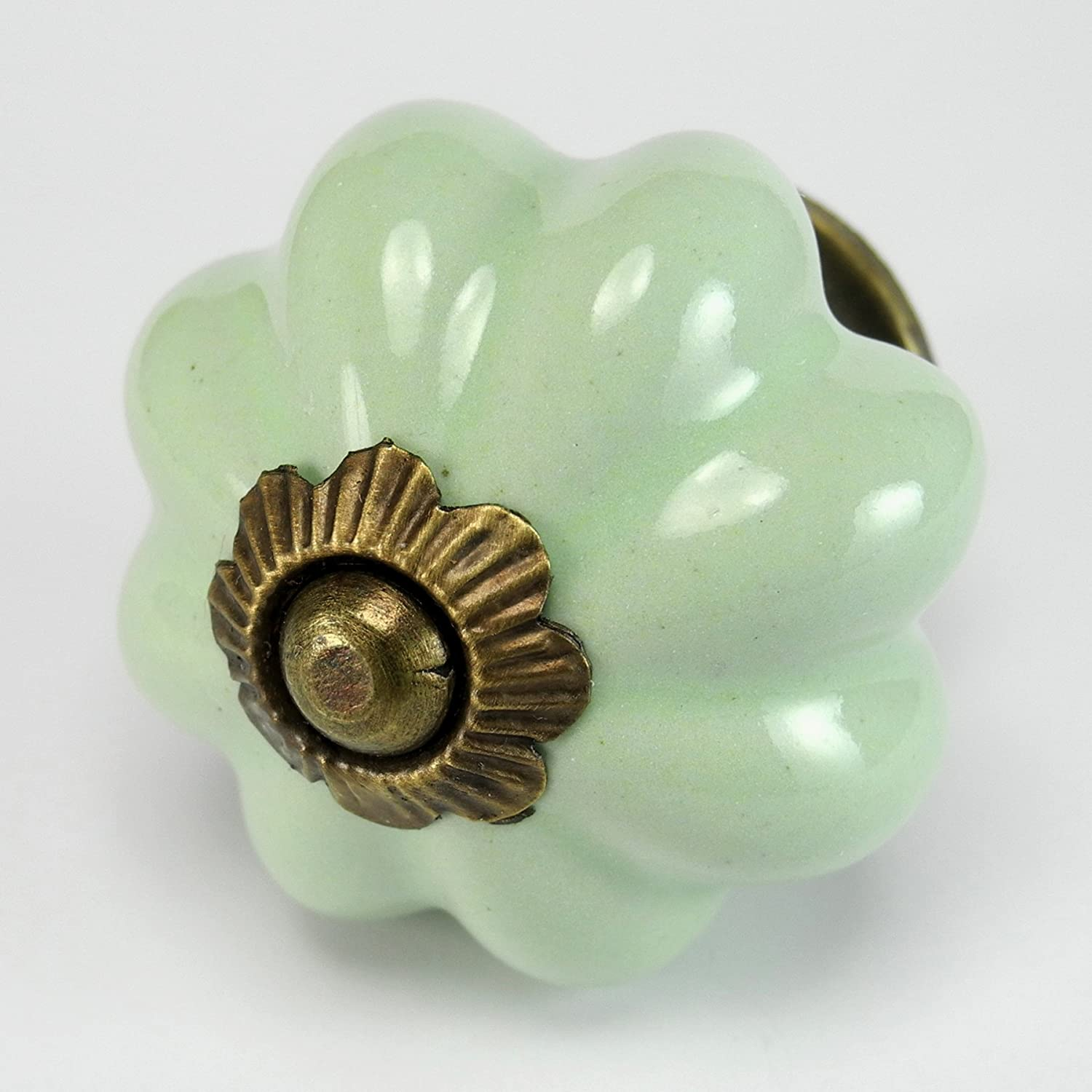Retro Green Ceramic Cabinet Knobs, Drawer Pulls & Handles Set/4pc ...