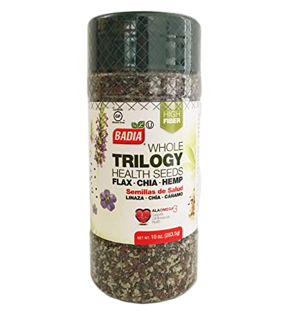 Amazon.com : 10 oz TRILOGY Seeds Whole Flax, Chia, Hemp ...