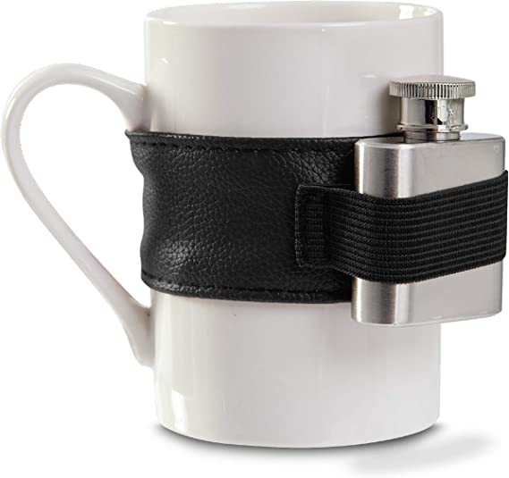 Hammer + Axe Coffee Mug with Stainless Steel Mini Flask