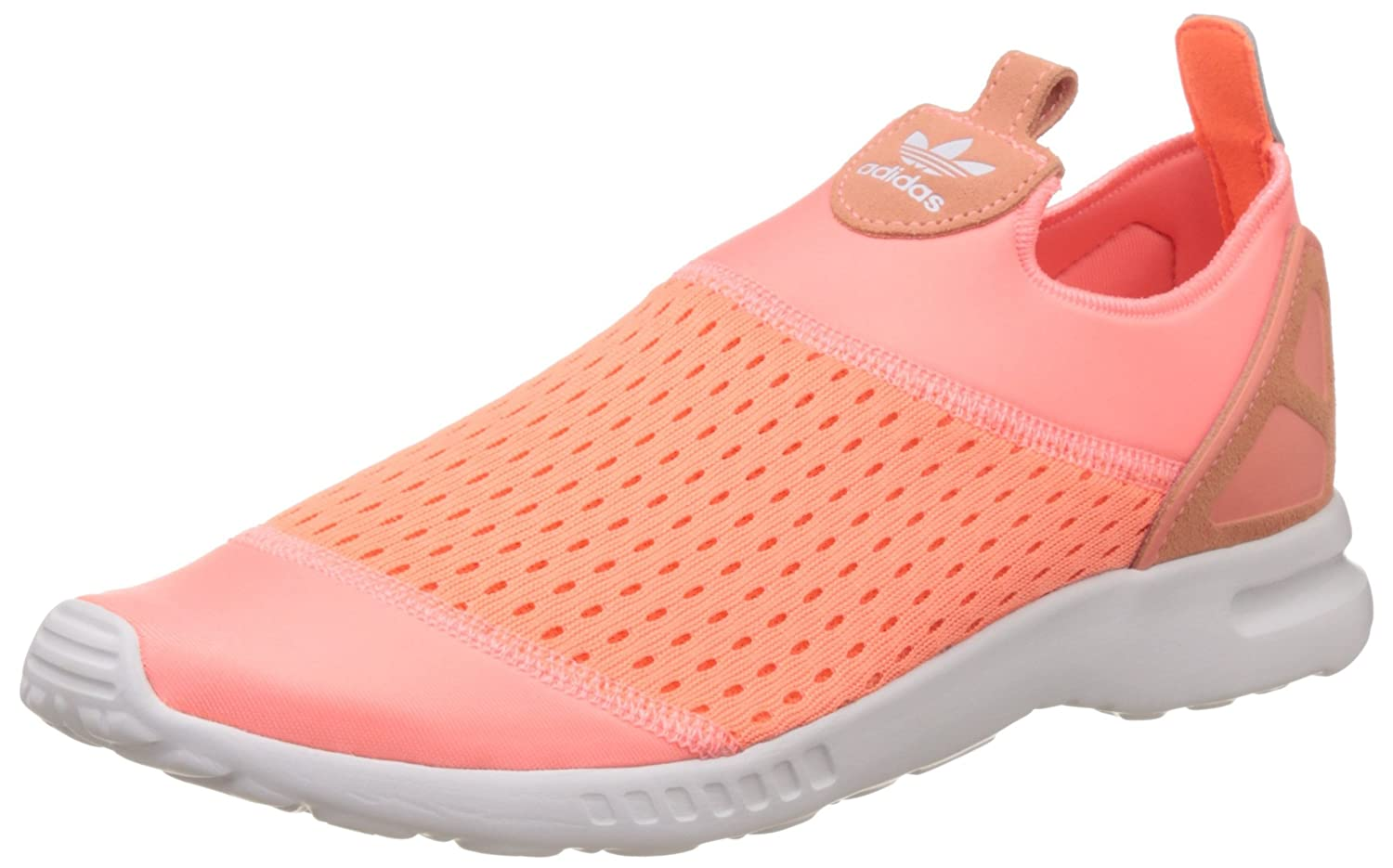 adidas Damen ZX Flux ADV Smooth Slip-on, Orange  42 EU|Korallenrot