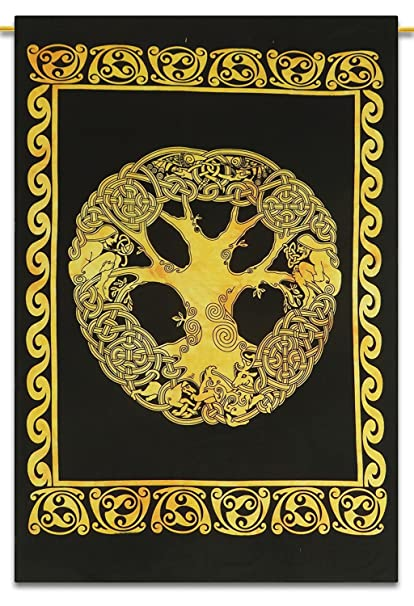 Amazon.com: Celtic Tree Of Life Tapestry Multi Tie Dye ...