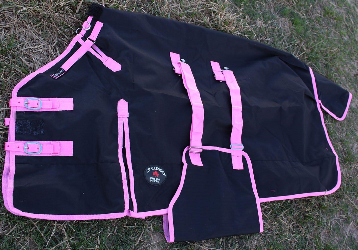 CHALLENGER 80'' 1200D Turnout Rain Horse Sheet Light Winter Blanket Gusset 368B by CHALLENGER