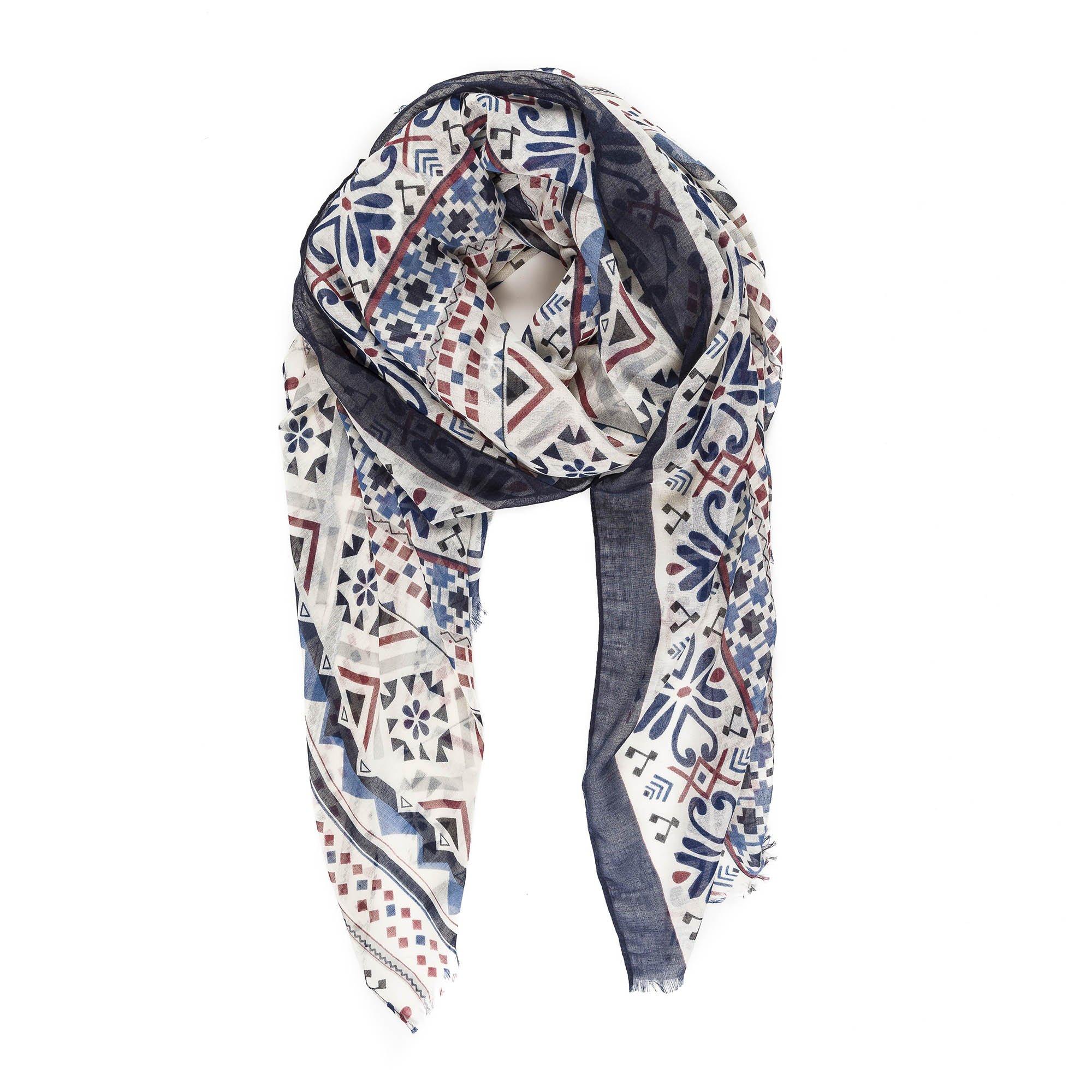 Scarf for Women Lightweight Geometric Pattern Fashion Fall Winter Scarves Shawl Wraps by Melifluos (NF17-2)