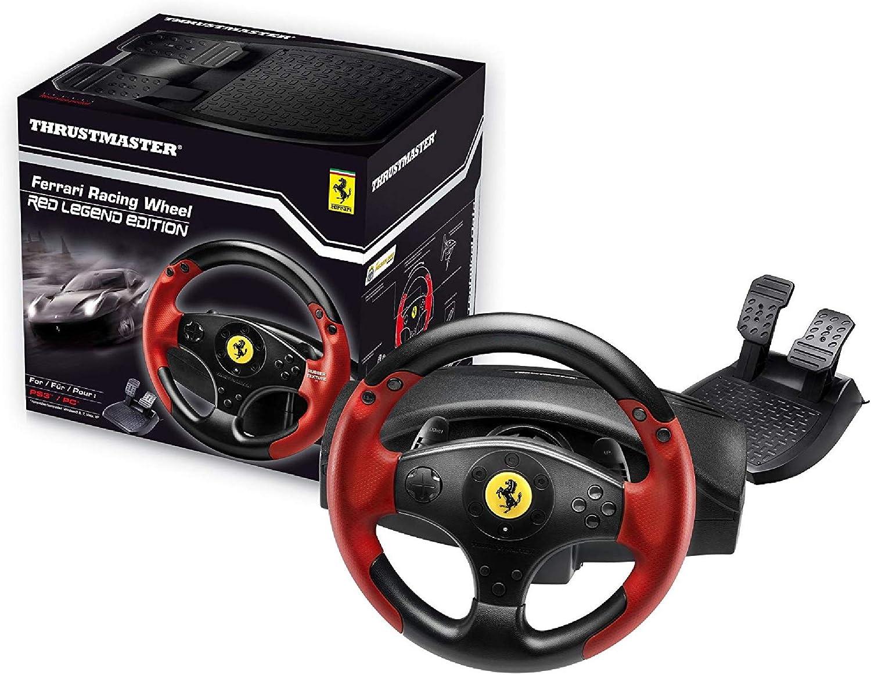 Thrustmaster FERRARI RED LEGEND EDITION - Volante - PS3 / PC - Licencia Oficial Ferrari