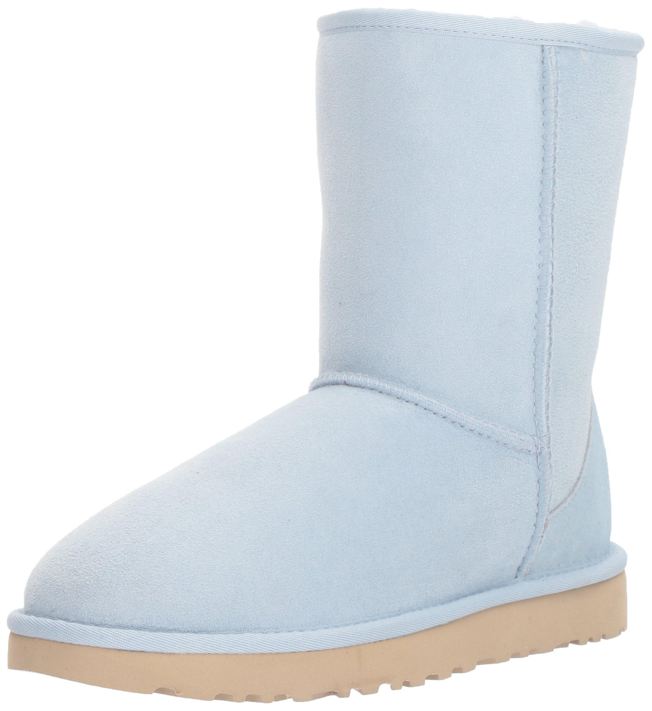 UGG Women's Classic Short II Fashion Boot, Sky Blue, 10 M US