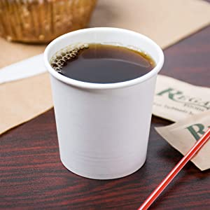 4 Oz. White Paper Hot Cups Espresso Sampling Cups -100 pack - BPA Free safe for food contact. - Plus 1 Re-usable clip on cup Handles