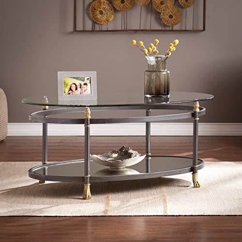 Southern Enterprises CK4730 Allesandro Deep Gray Cocktail Table