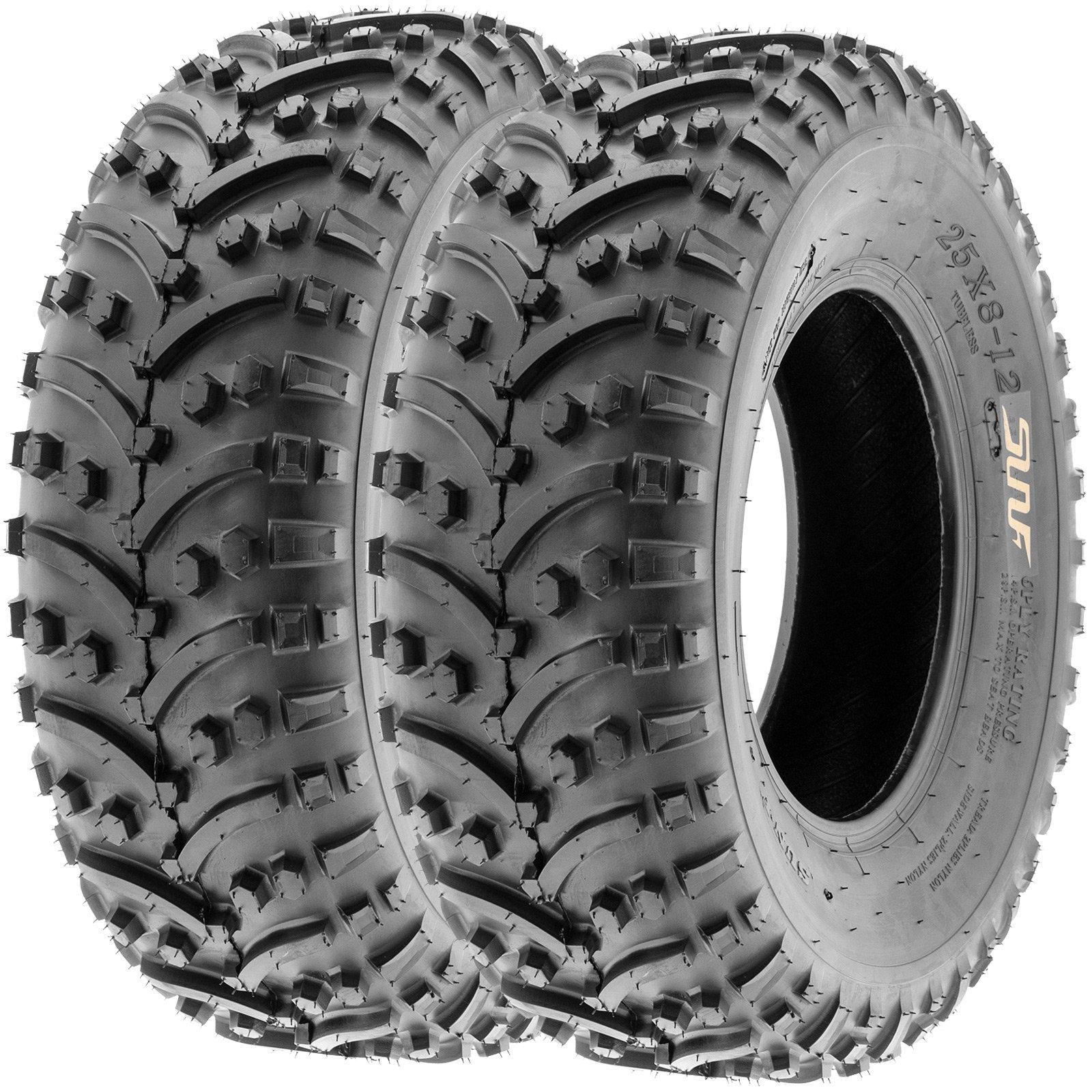 SunF Sport ATV UTV Tires 25x8-12 25x8x12 6 PR A032 (Set pair of 2)