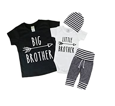 f348b89e623e1 Image Unavailable. Image not available for. Color: Big Brother/Little  Brother Shirt/Bodysuit and Pants Set. Baby ...