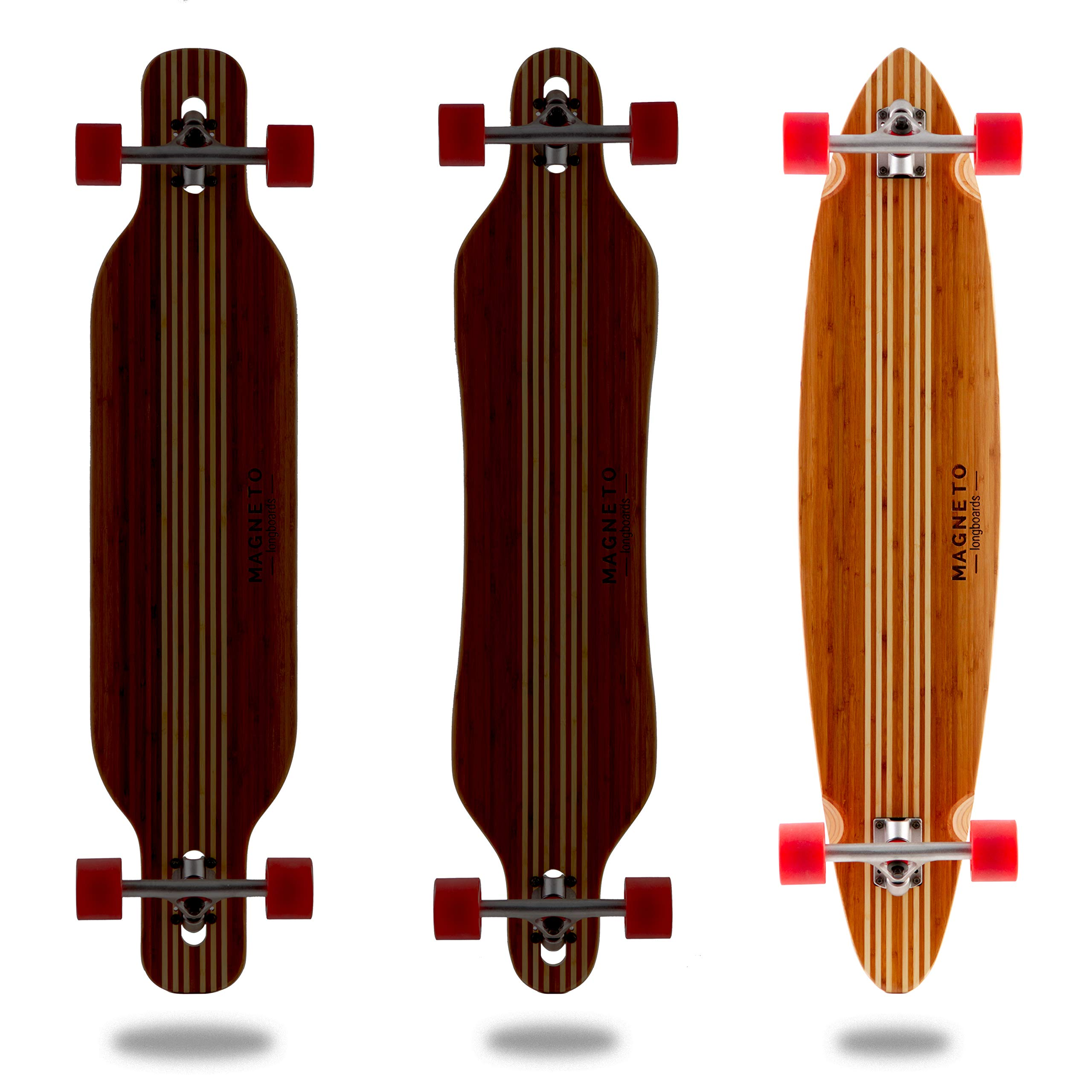 Hana Longboard Collection | 42 inch Longboard Skateboards | Bamboo with Hard Maple Core | Cruising, Carving, Dancing, Freestyle (Pintail) by Magneto (Image #2)
