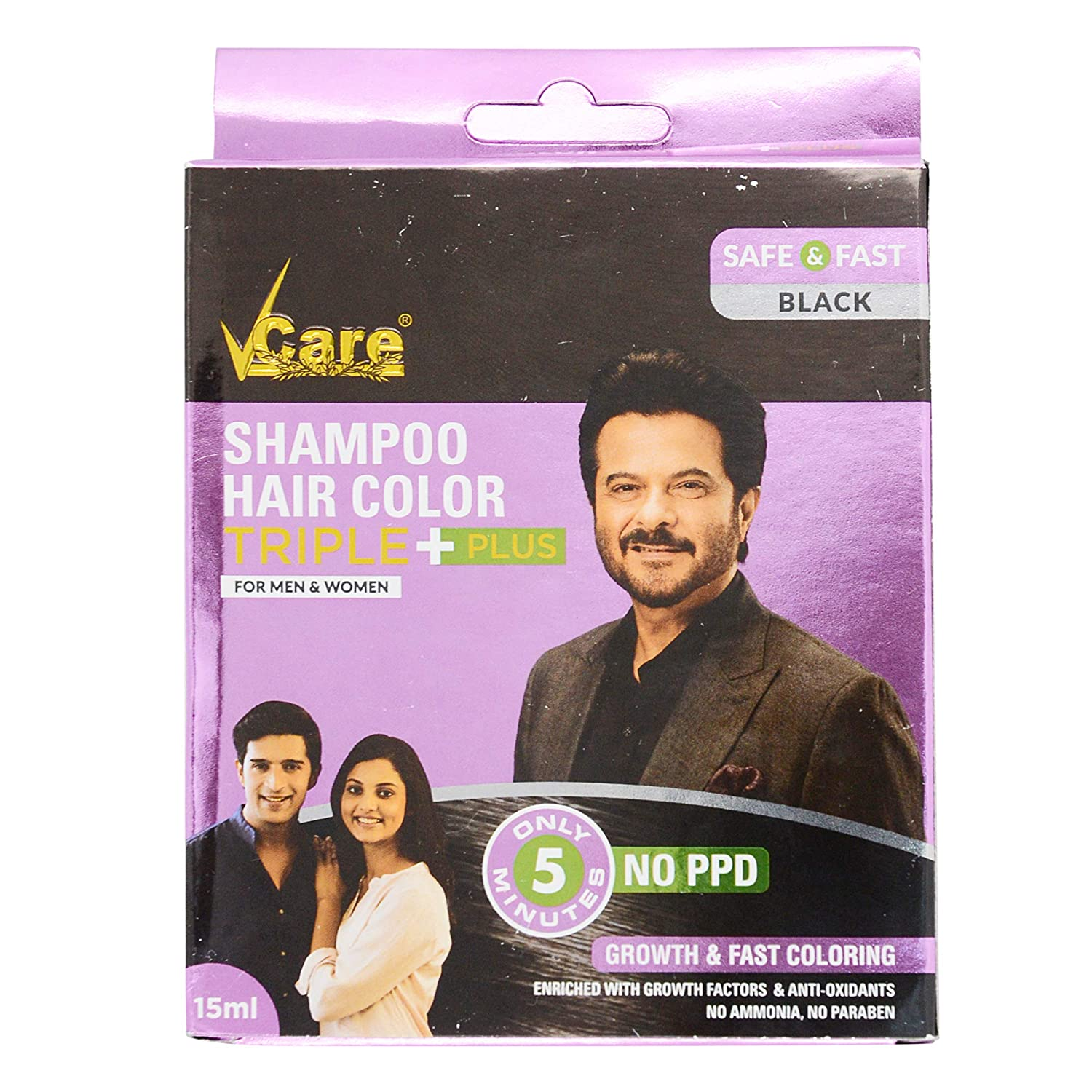 Buy Vcare Hair Color Shampoo Black 5 Ml Pack Of 2 Online At Low Prices In India Amazon In