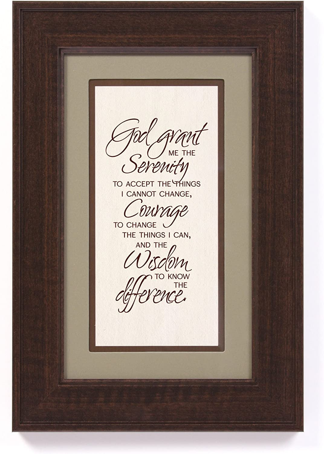 James Lawrence Serenity Prayer Framed Wall Art Plaque