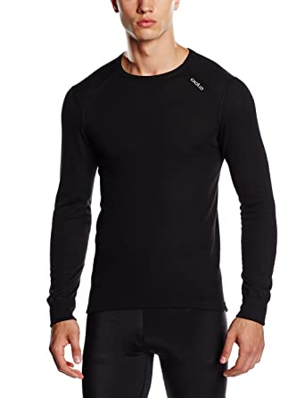 Odlo L/S Crew Neck Active Originals War Camiseta, Hombre, Negro, S