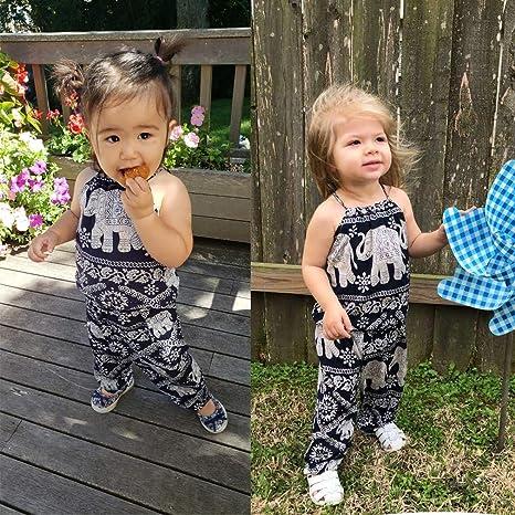 Elephant Straps Tops+Harem Pants Outfit 2Pcs//Set Kids Baby Girls Jumpsuit Romper