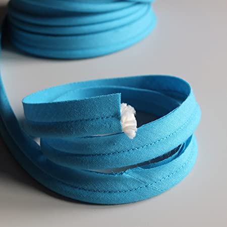 Sold by the Metre Many Colours Turquoise Blue flanged 2mm insert piping cord poly cotton bias cut