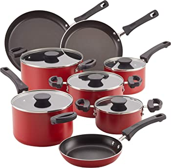 Farberware 22246 Neat Nest Space Saving Nonstick Cookware Set