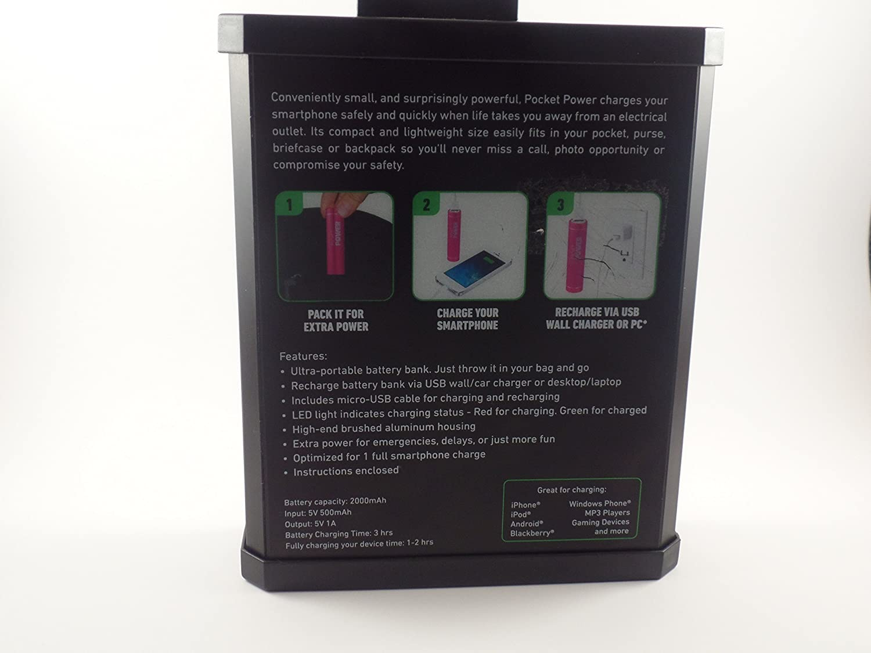 Amazoncom Sharper Image Pocket Power Portable Power For Mobile
