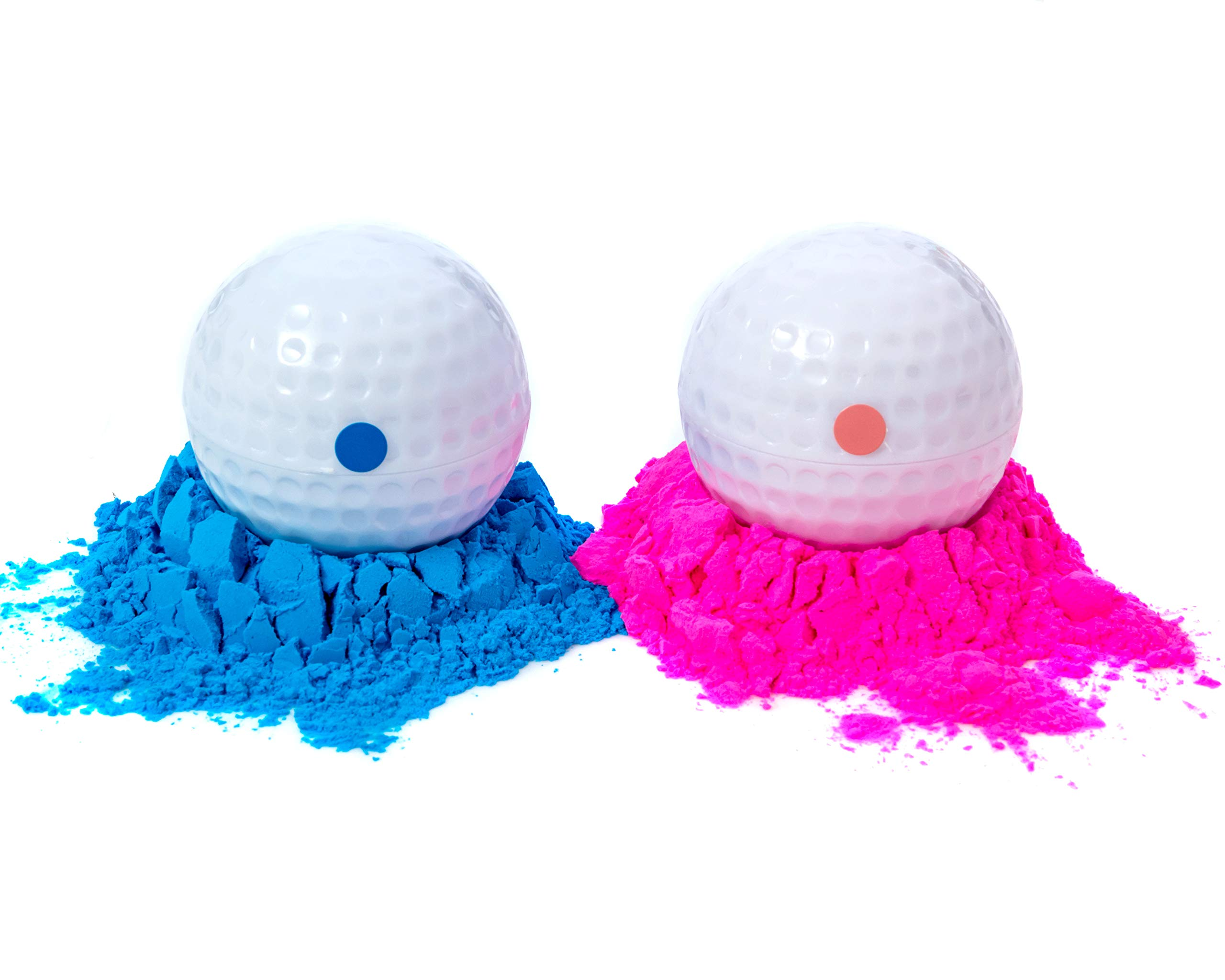 Winsharp Gender Reveal Golf Balls | One Pink, One Blue + Wooden Tee Included | Best Gift for Expecting Parents by Winsharp