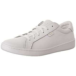 Keds Women's Ace Leather Sneaker, White, 6
