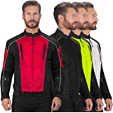 Viking Cycle Textile Warlock Biker Mesh Motorcycle Jacket for Men (Red, X-Small)