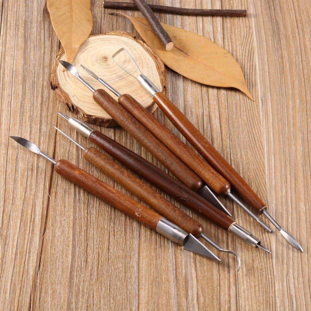Juego de 6 herramientas de cer/ámica de cer/ámica para tallar cera esculpir y suavizar