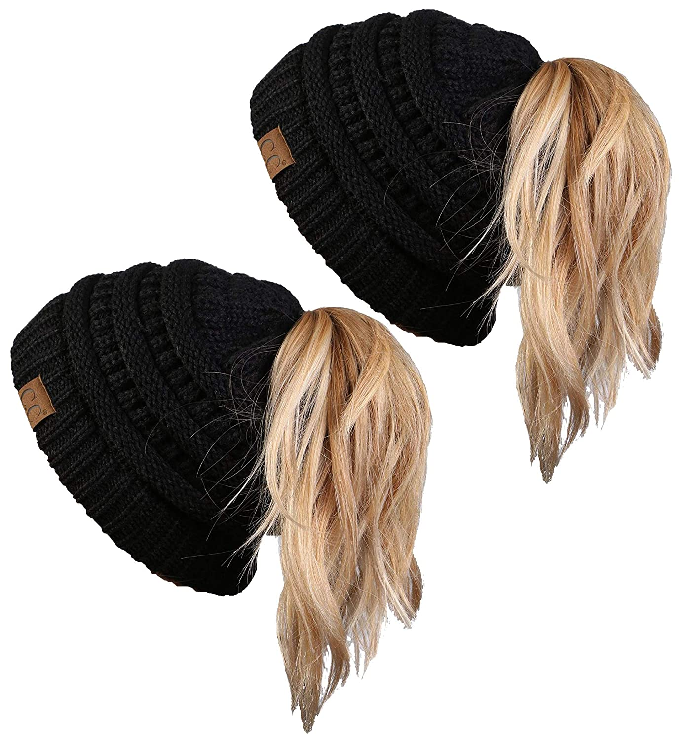 a910031a39 GREAT LOOK: No matter if your hair is thick, thin, curly, wavy, straight,  coarse or fine, if you wear it up and wear beanies, our BeanieTail skull  caps are ...