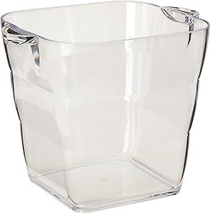 Prodyne Viva Acrylic Square Wine Bucket, Clear