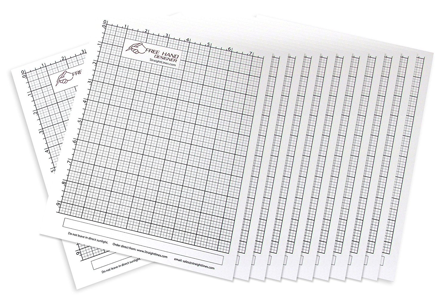 12 x Grid Type Lettersize 'Freehand Designer' Sheets. Draw Perfect Straight Lines Templates. Grid Type Sheets for Scale Drawings by StraightLines