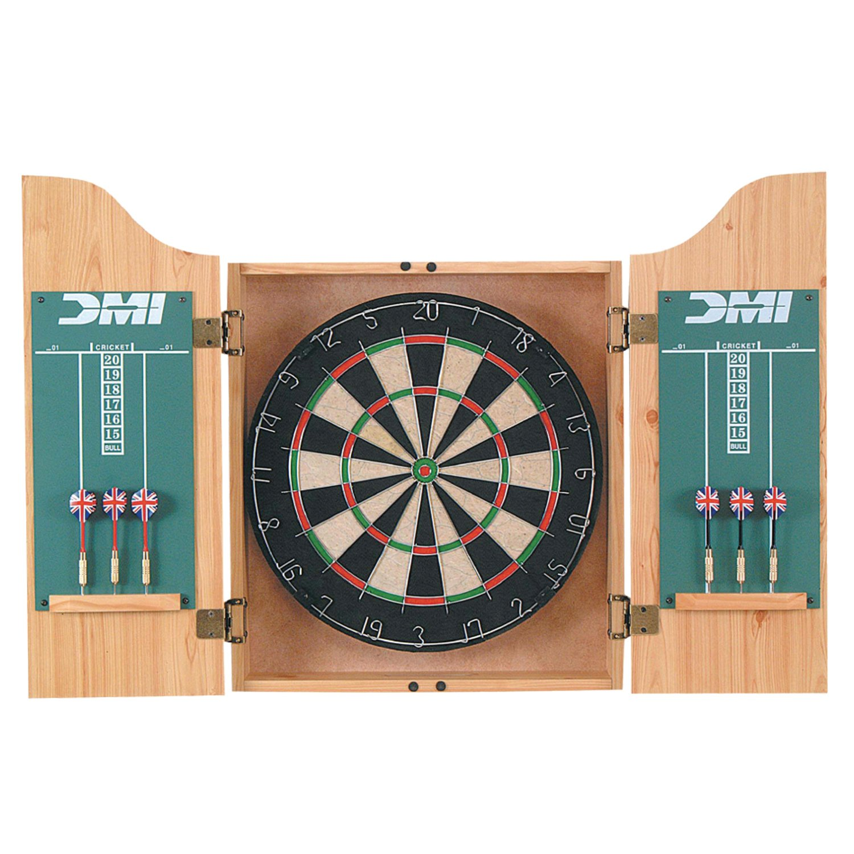 DMI Sports Deluxe Dartboard Cabinet Sets (Light Oak)