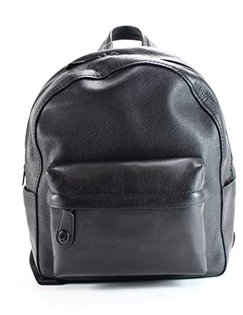 d42ae1a5036e7 COACH Women s Polished Pebble Leather Campus Backpack Mw Black One Size
