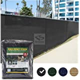 FenceScreen 6ft x 50ft Fence Windscreen - Black 88% Blockage Privacy Screen Mesh Fence Cover - 3 Year Warranty 155 GSM